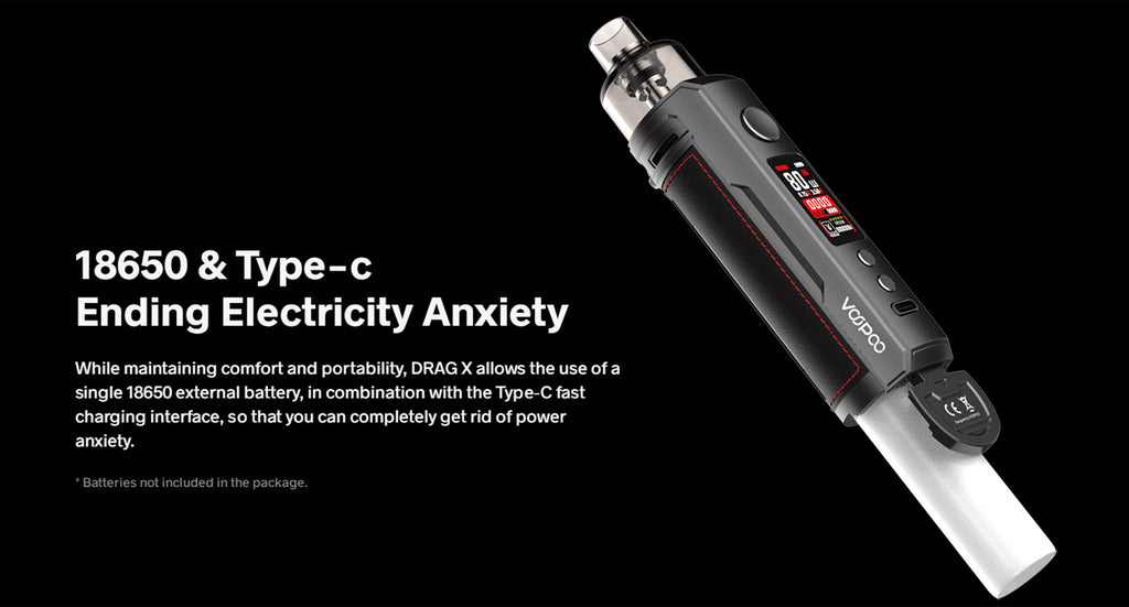 Voopoo Drag X 80W Mod Pod Kit 4.5ml - 18650 Battery Required