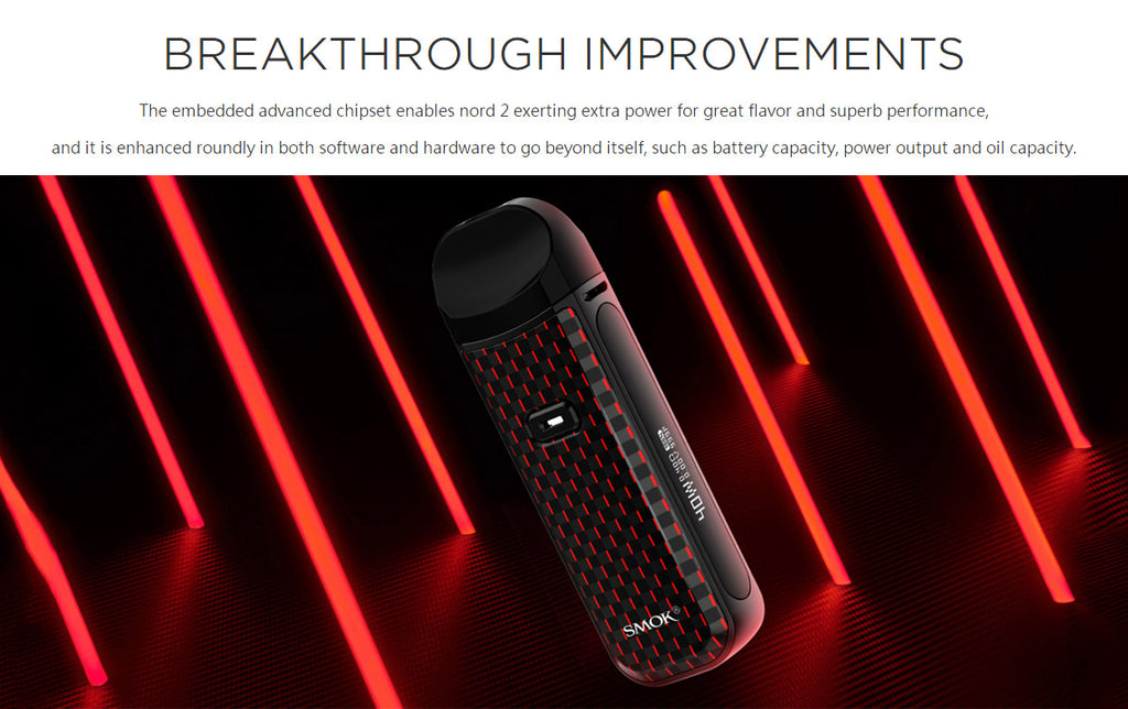 Smok Nord 2 Pod System Kit 1500mAh 4.5ml - New Improvements