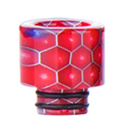 Small 510 Drip tip - Twin O Ring Resin - WIDE BORE Drip Tip - Red