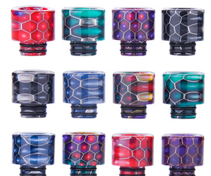 Small 510 Drip tip - Twin O Ring Resin - WIDE BORE Drip Tip