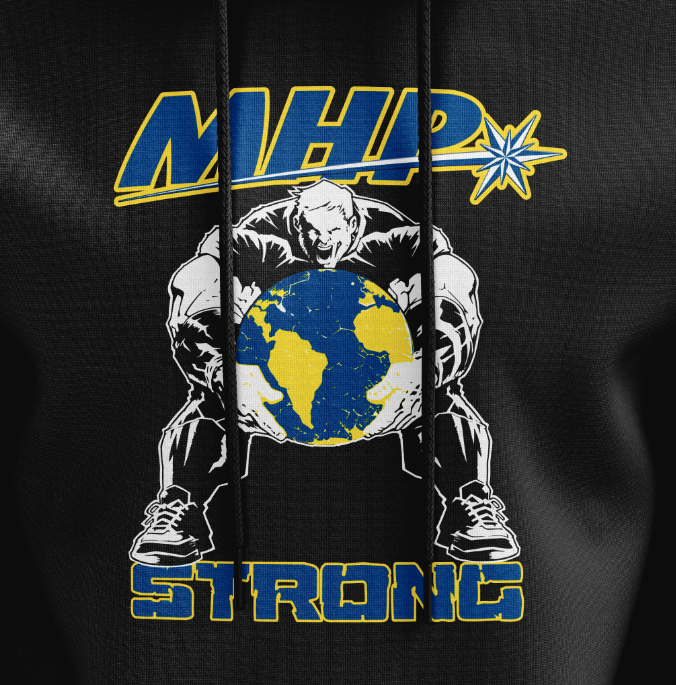 MHP Strong Man Hoodie - Black