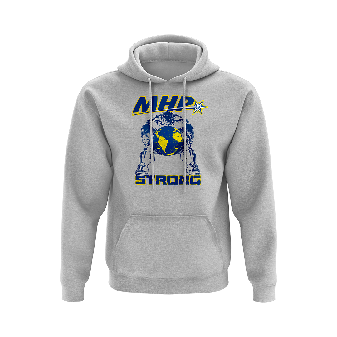 MHP Strong Man Hoodie - Gray