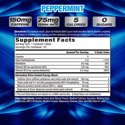 MHP Adrenaline Drive SUPPLEMENT FACTS