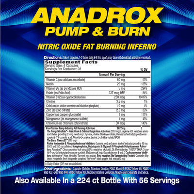 MHP Anadrox SUPPLEMENT FACTS