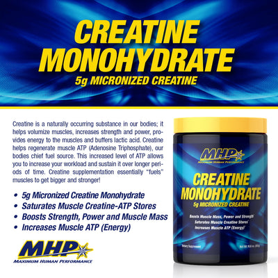 MHP Creatine Monohydrate PRODUCT POINTS