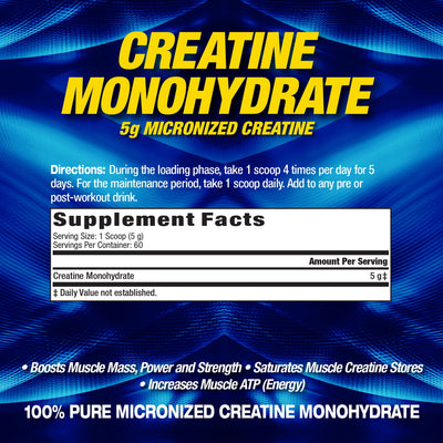 MHP Creatine Monohydrate SUPPLEMENT FACTS