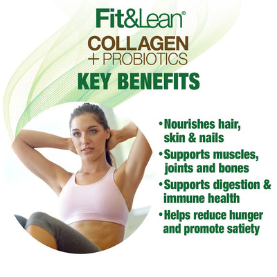 FIT&LEAN COLLOGEN AND PROBIOTICS KEY BENEFITS