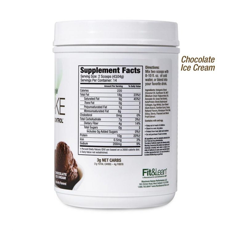 FIT&LEAN KETO SHAKE CHOCOLATE BOTTLE