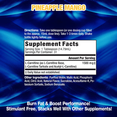 Liquid_L-Carnitine Supplement Facts