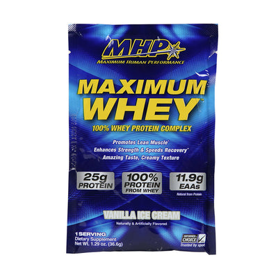 MAXIMUM WHEY VANILLA SAMPLE PACK