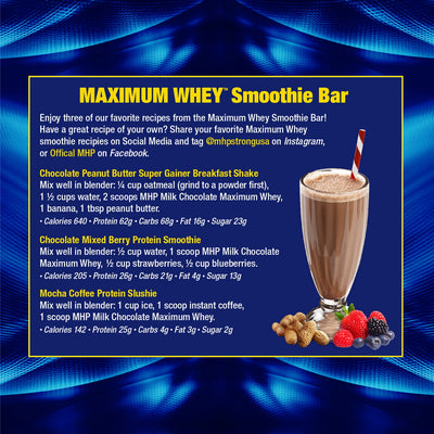 MHP Maximum Whey Smoothie Recipe