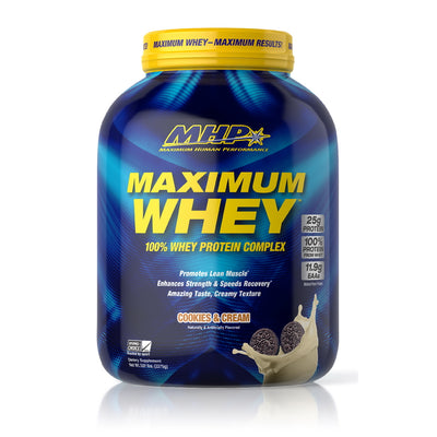 MHP Maximum Whey COOKIES AND CREME BOTTLE