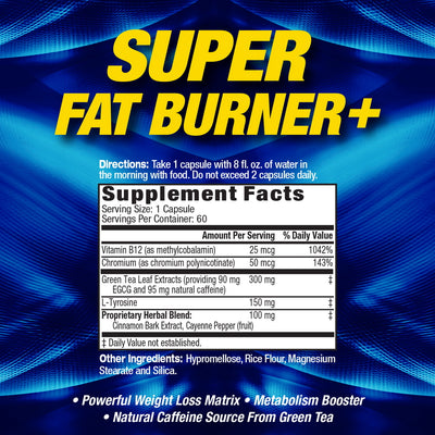 Super Fat Burner SUPPLEMENT FACTS