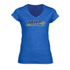 WOMEN'S MHP HEATHER BLUE V-NECK