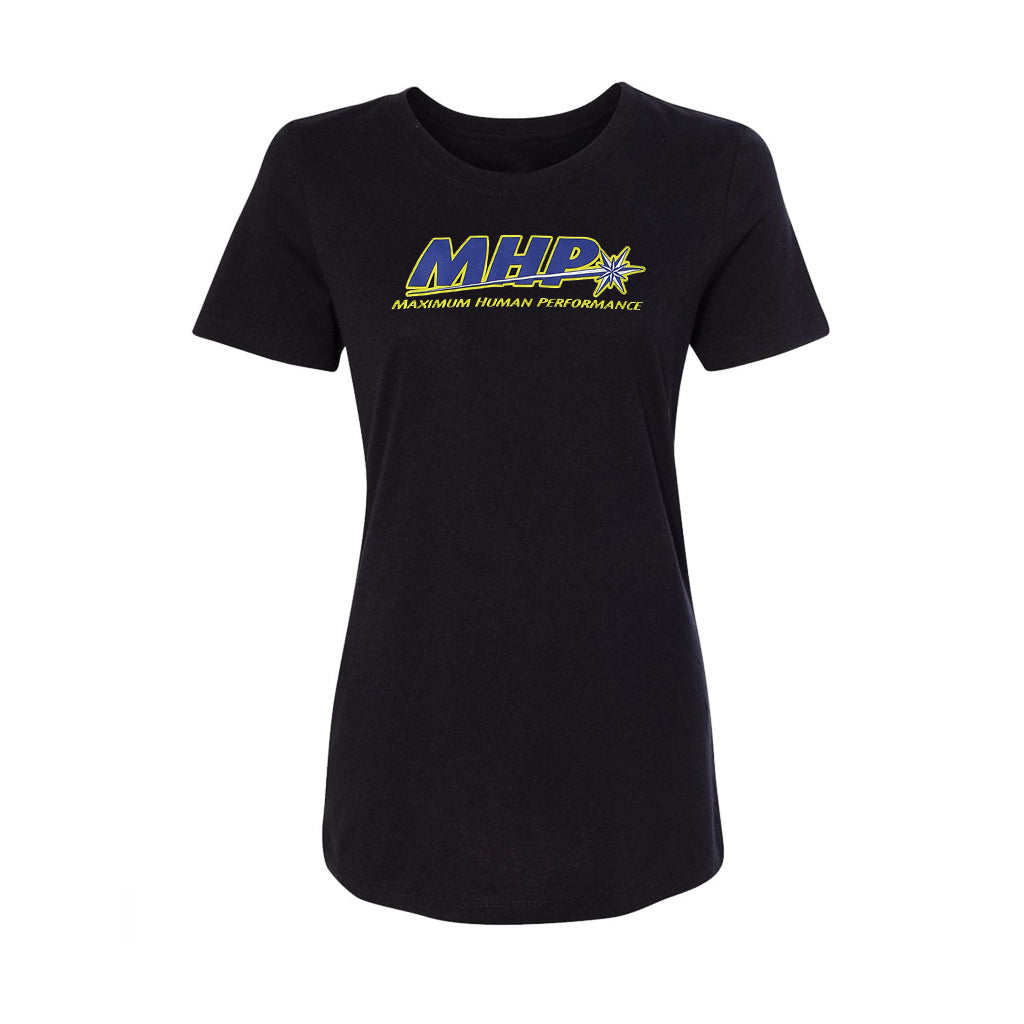 Womens Black MHP Crewneck T-Shirt