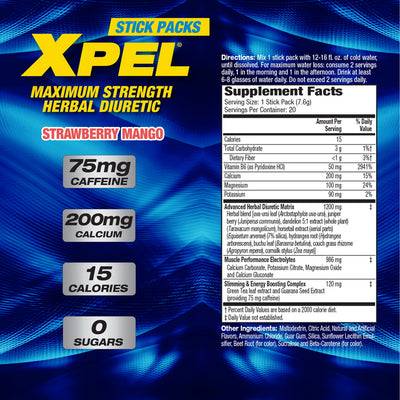MHP Xpel Stick Packs Supplement Facts