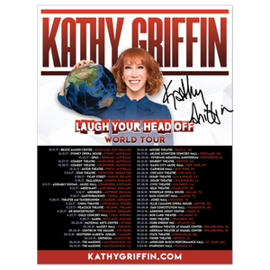 Autographed Laugh Your Head Off Tour Poster