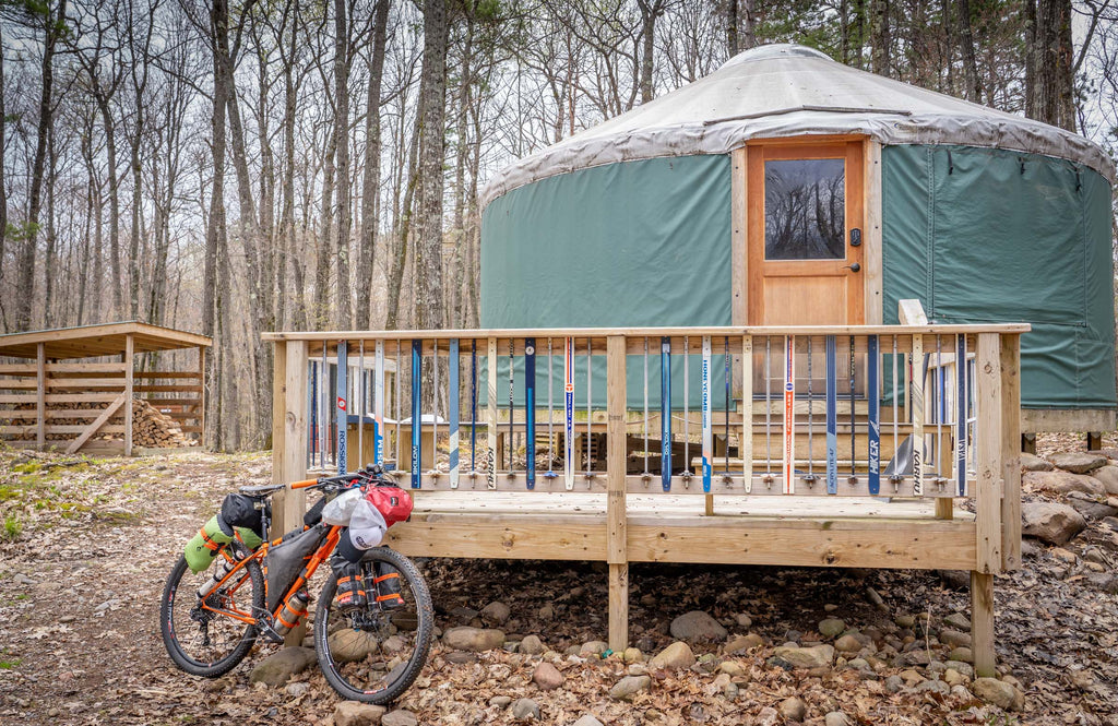 northwoods yurt wisconsin bikepacking