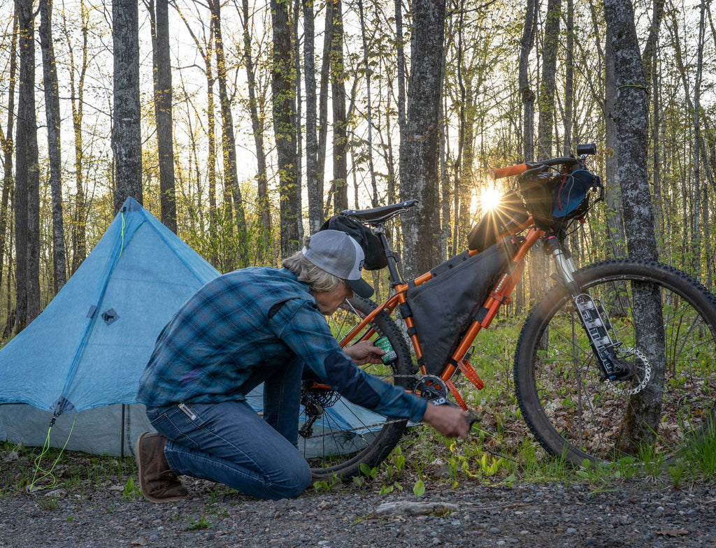 morning bikepacking maintenance wisconsin north woods