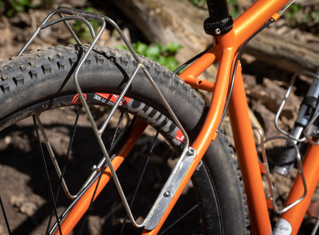 custom fillet-brazed bikepacking rack