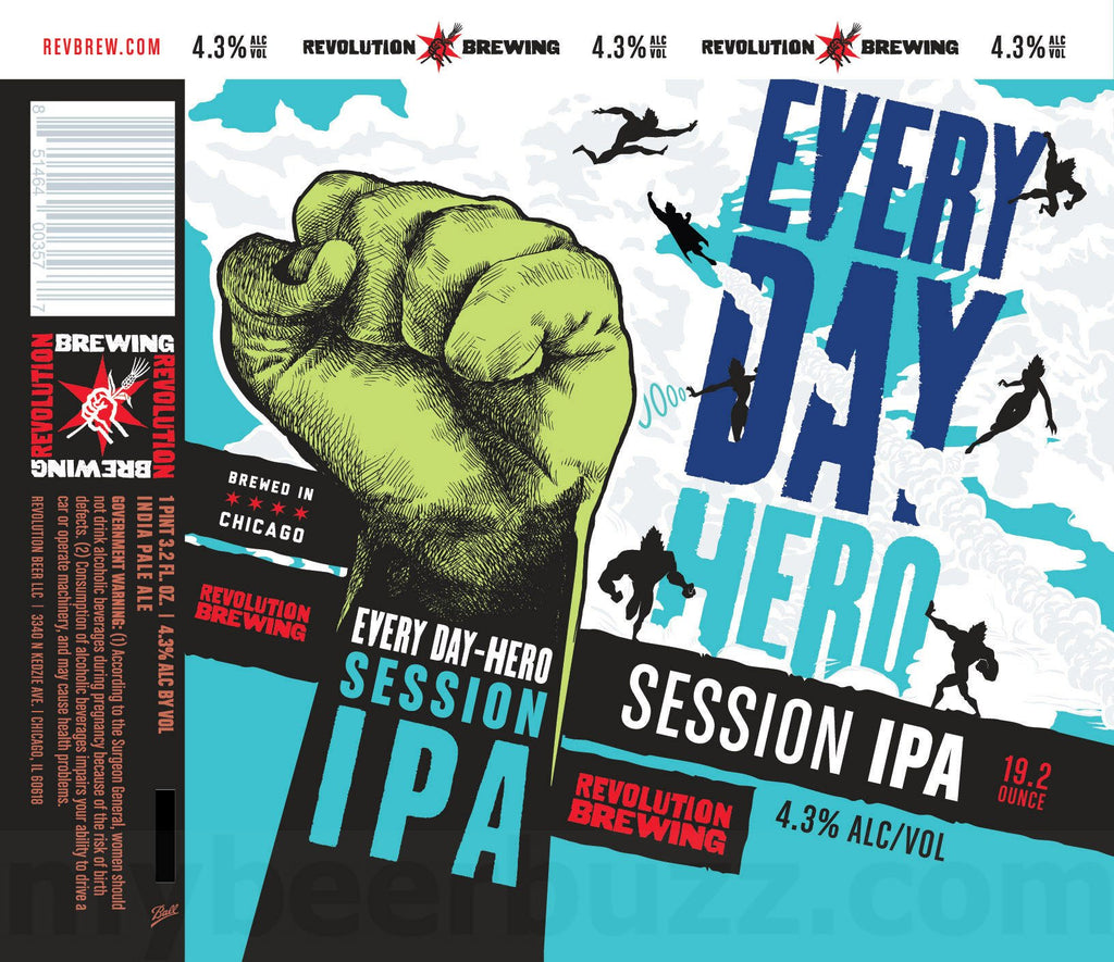 revolution brewing everyday hero session IPA