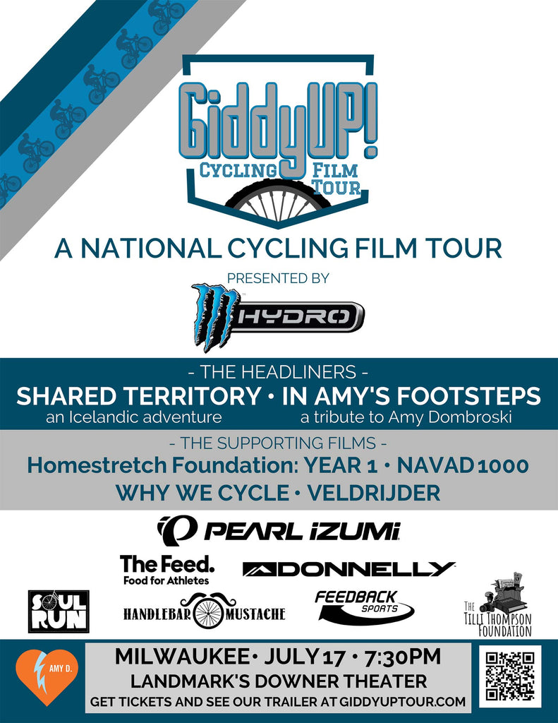 giddy up cycling film tour milwaukee
