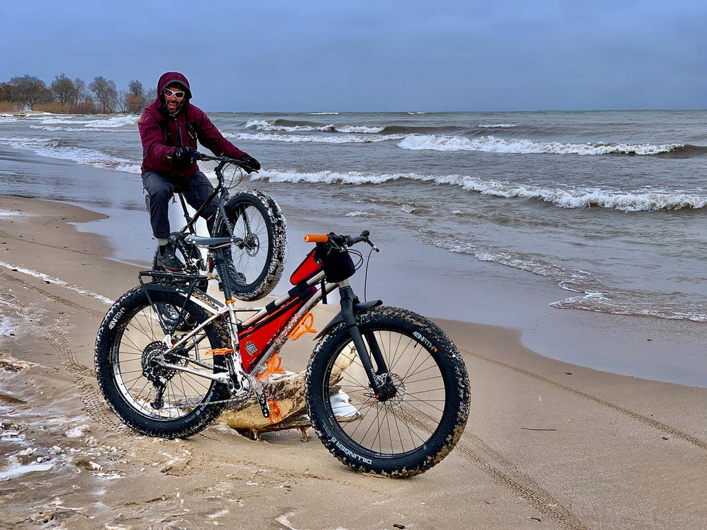 milwaukee fatbike beach ride