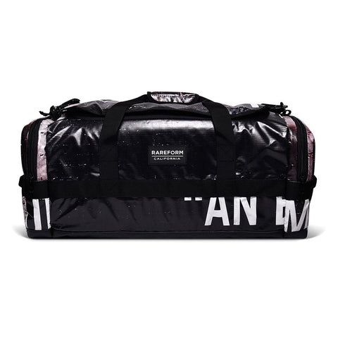 rareform recycled billboard material duffle bag