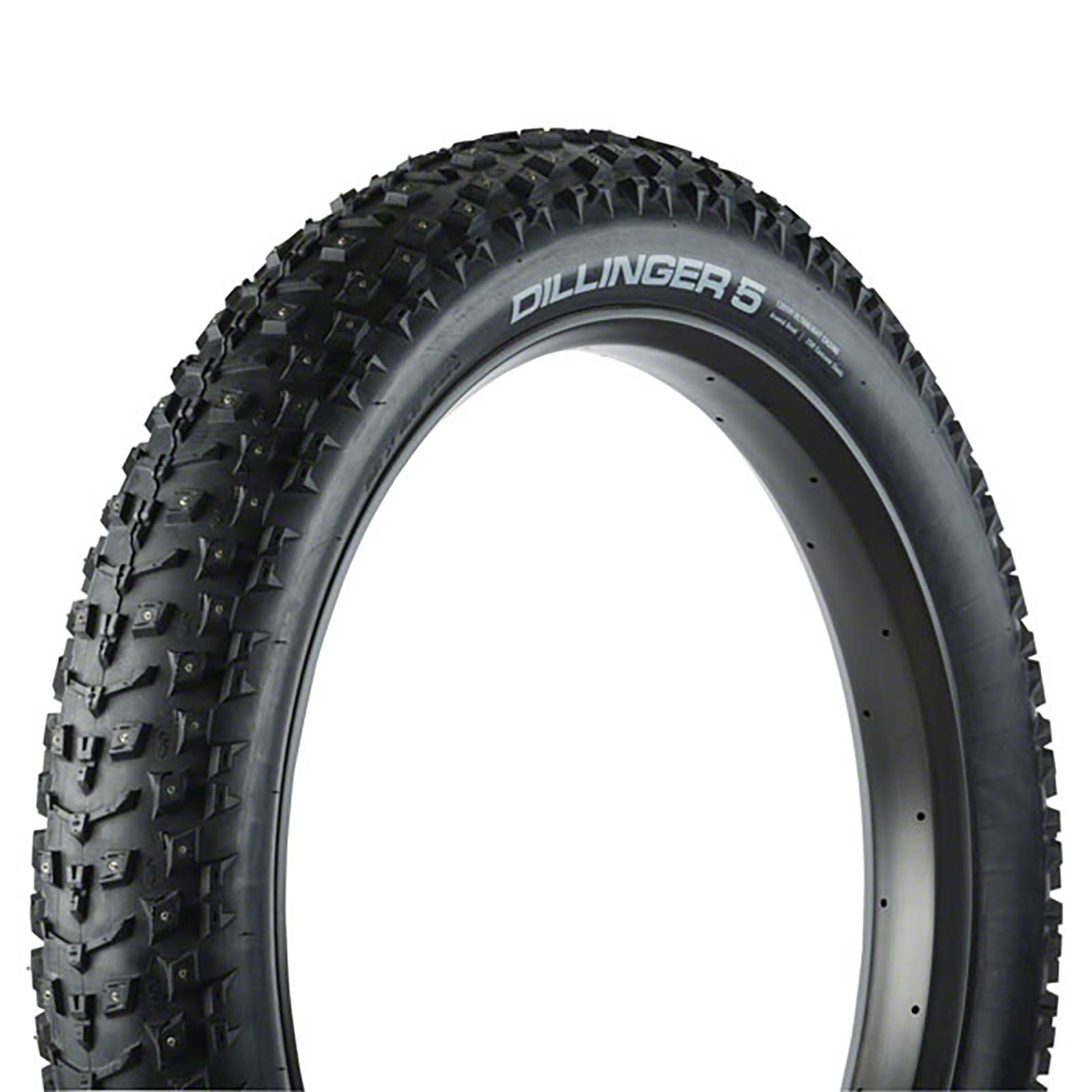 45NRTH Dillinger 5 Custom Studdable Fat-bike Tire 26 x 4.8 - Folding - 120tpi