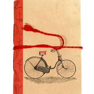 Vintage Bicycle on 5x7 Journal Cotton Paper