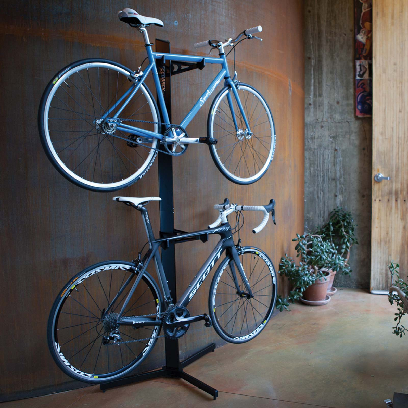 Velo Cache Vertical Bicycle Storage Rack Everyday Cycles Llc