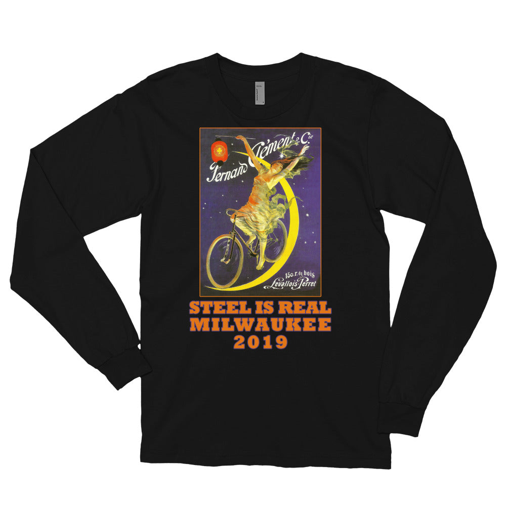 Steel is Real Long Sleeve American Apparel T-shirt