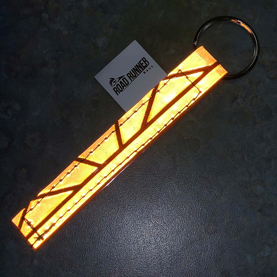 Road Runner Reflective Key Ring Blaze Orange Milwaukee Dealer