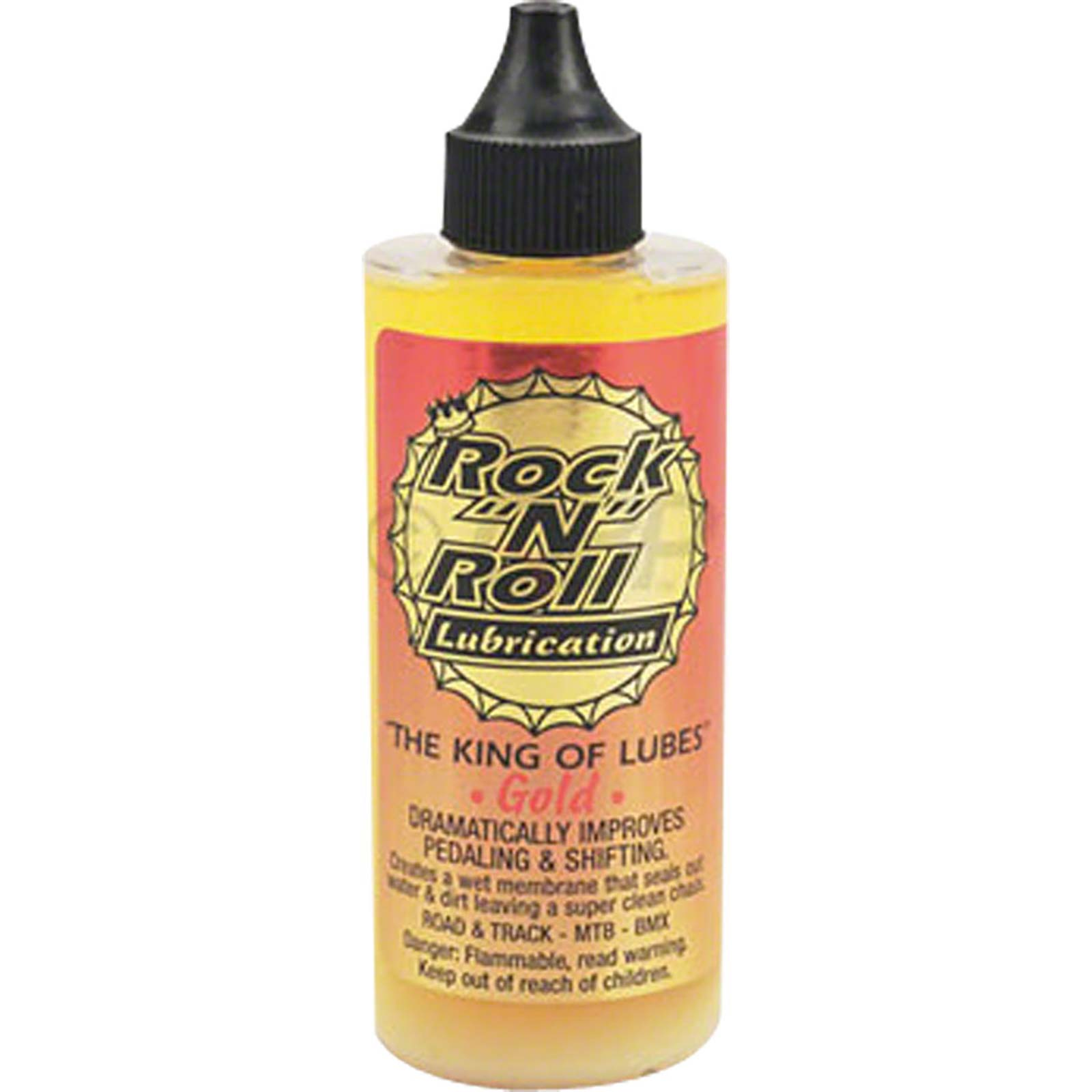 Rock-N-Roll Gold Lube Squeeze Bottle 4oz