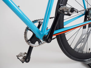 Gulf Racing-Inspired Custom 58cm Schlick Cycles 2-speed Road Bike - Demo Model