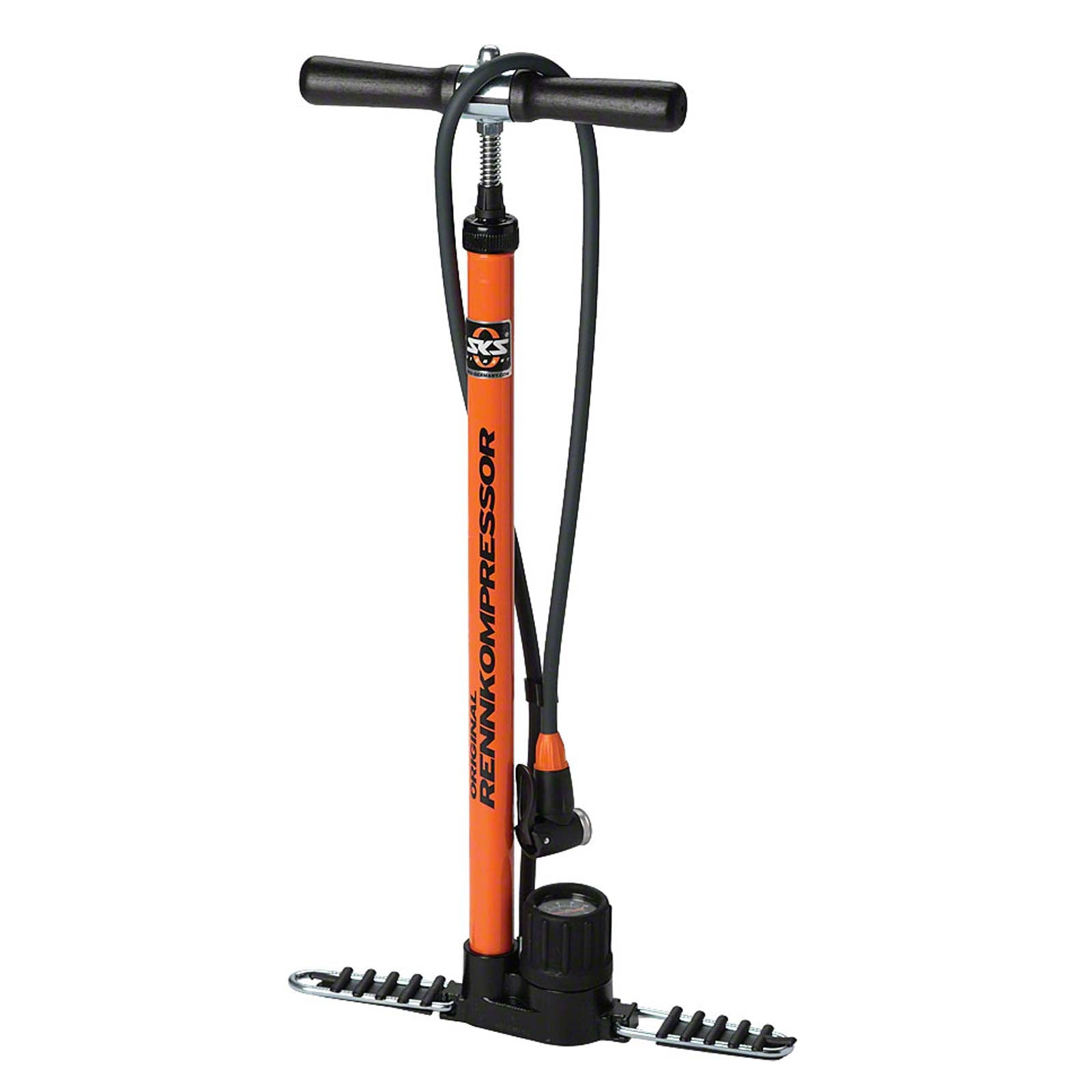 SKS Rennkompressor Floor Pump - Orange