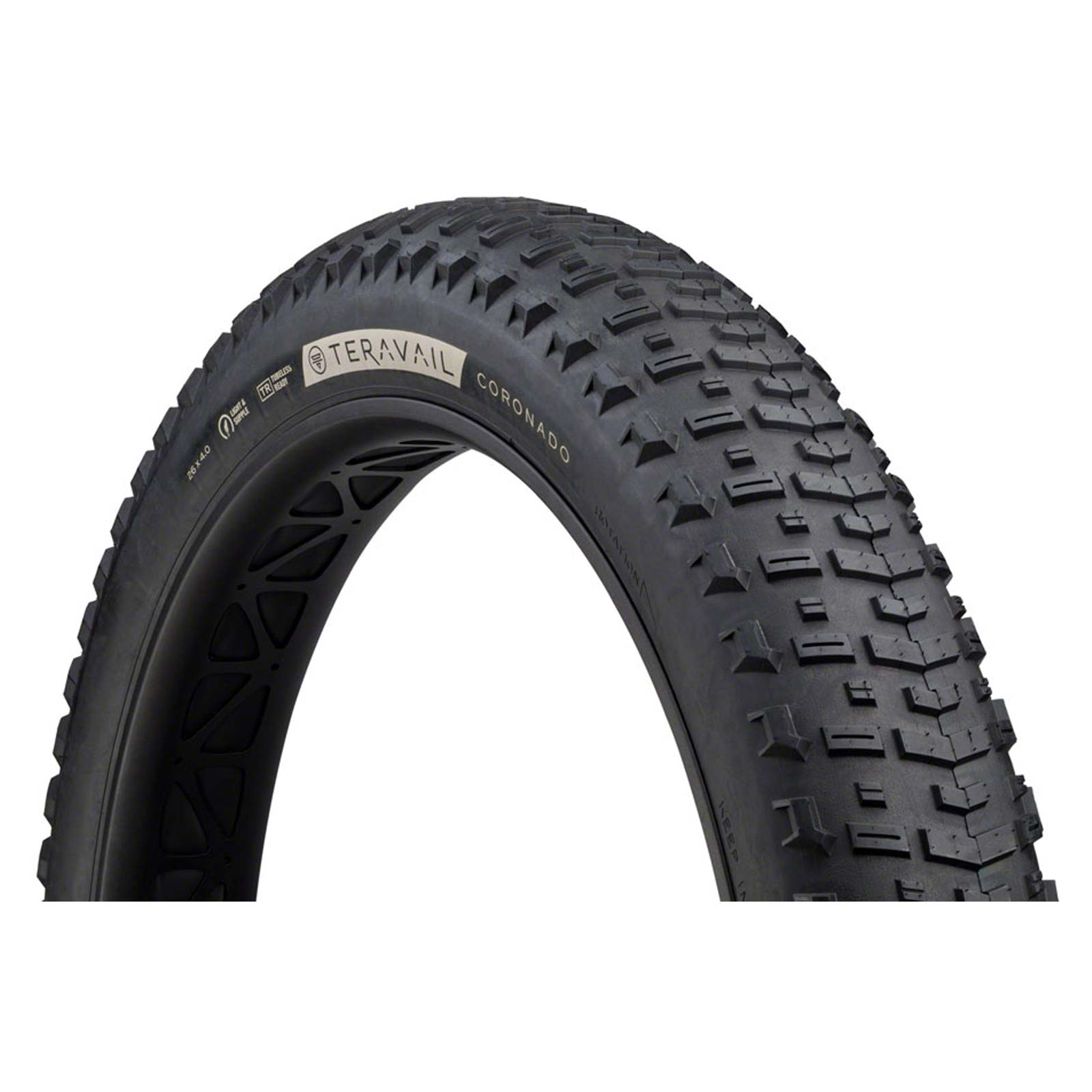 Teravail Coronado Tire-26 x 4.0-Durable-Tubeless Ready-Black