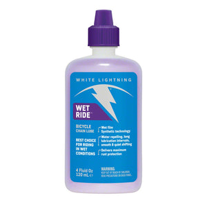 White Lightning Wet Ride Lube - 4oz Drip Bottle