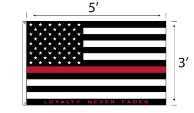 LOYALTY Flag - Red Line