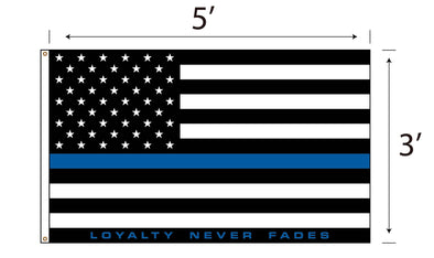 LOYALTY Flag - Blue Line
