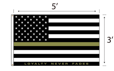 LOYALTY Flag - Green Line