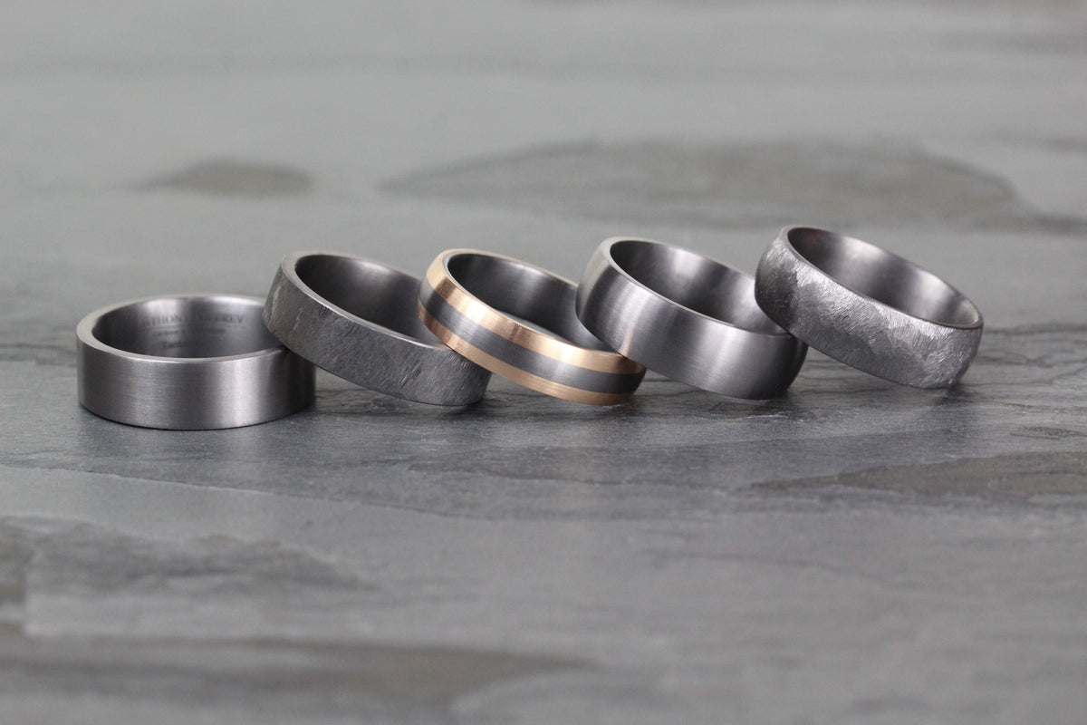 Tantalum rings are made with the metal in its pure form, Tantalum is resistant to breakage and offers the wearer a strong and sturdy ring that will last for years to come. Tantalum rings can also be set with diamonds if you are looking for added luxury