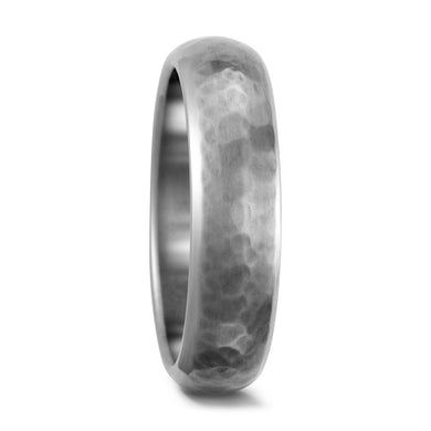 Titanium Hammered Effect Ring with FREE Engraving! 5 to 6mm widths