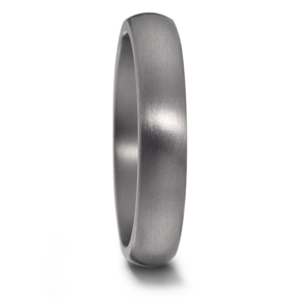 Brushed TANTALUM, Ultra comfort fit, Wedding Ring (3 to 4mm)