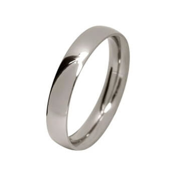 Polished Titanium, Ultra comfort fit, Wedding Ring (5 to 6mm)