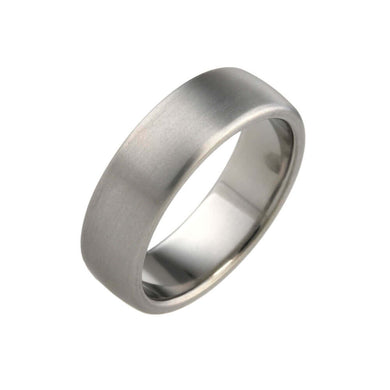 Brushed Titanium, Ultra comfort fit, Wedding Ring (7 to 9mm)