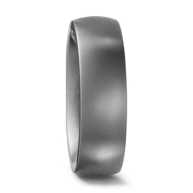 Brushed Titanium, Ultra comfort fit, Wedding Ring (5 to 6mm)