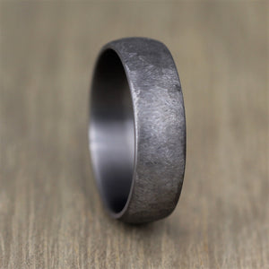 TANTALUM - Textured, Ultra comfort fit, Wedding Ring (7 to 8mm)
