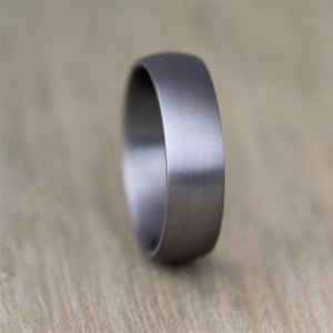 Brushed TANTALUM, Ultra comfort fit, Wedding Ring (5 to 6mm)