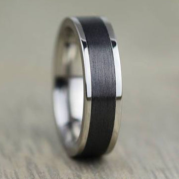 Titanium & Carbon Fibre Wedding/Engagement Ring with FREE engraving! 4 & 5mm